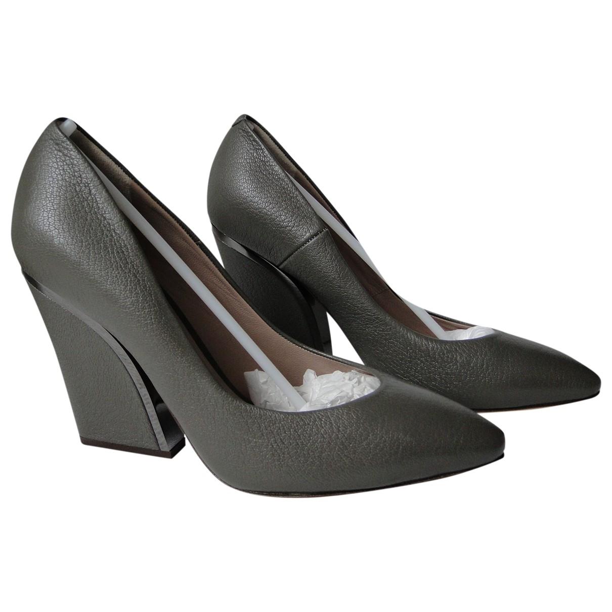 Chloe - Escarpins   pour femme en cuir - gris