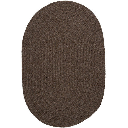 Colonial Mills Timberline Reversible Braided Oval Rug, One Size , Brown