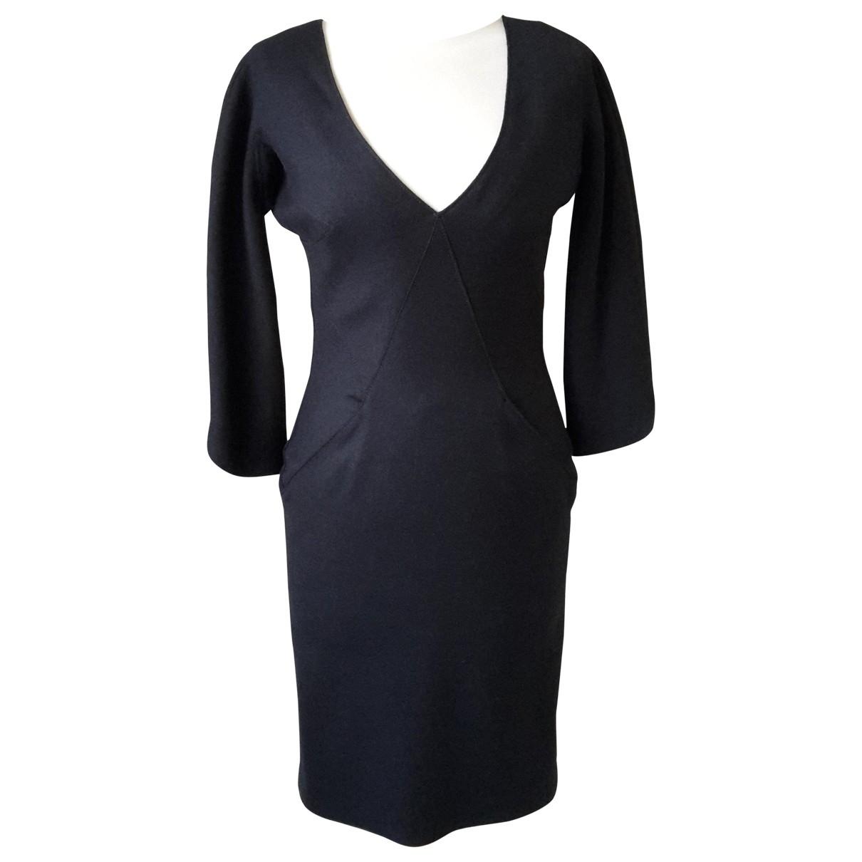 Alexander Mcqueen \N Black Wool dress for Women 40 IT