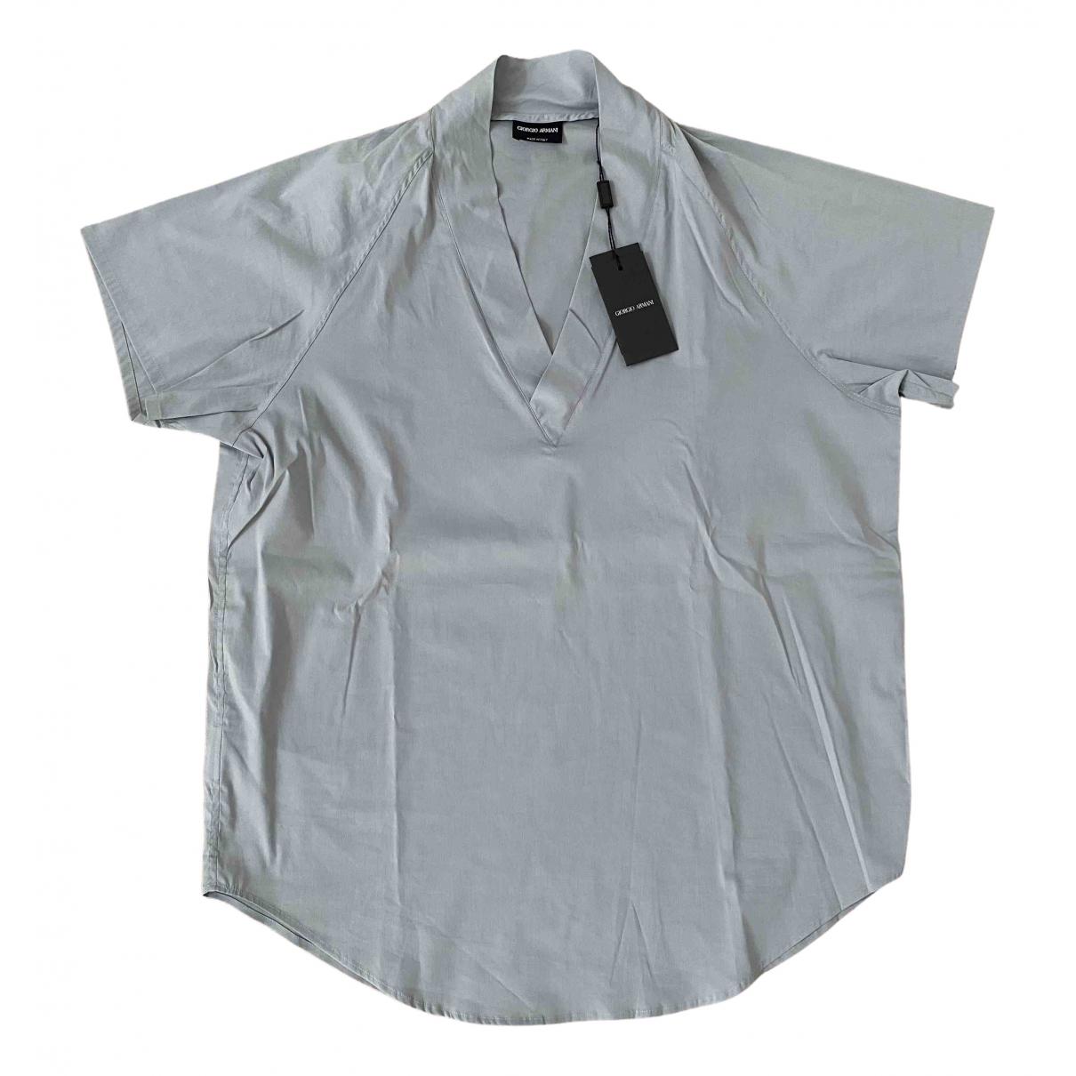 Giorgio Armani N Blue Cotton Shirts for Men 41 EU (tour de cou / collar)