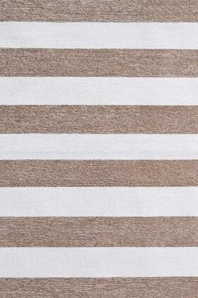 25649D 5 x 8 ft. Stripends Area Rug  in Tan and