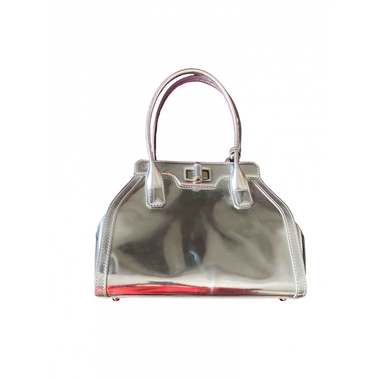 Tod's \N Silver Patent leather handbag for Women \N