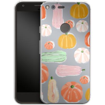Google Pixel Silikon Handyhuelle - Pumpkin Pattern Grey von Mukta Lata Barua