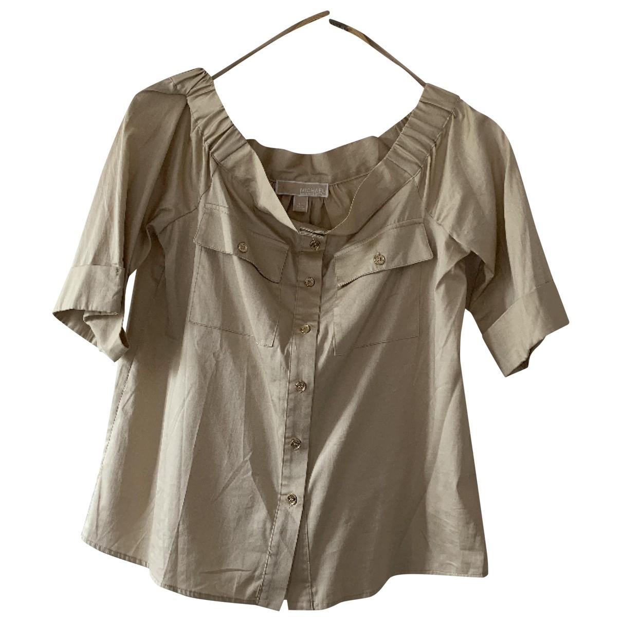 Michael Kors - Top   pour femme en coton - ecru