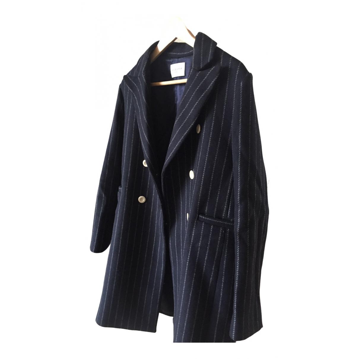 Sandro \N Blue Wool coat for Women 40 FR