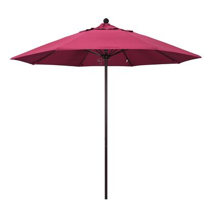ALTO908117-5462 9' Venture Series Commercial Patio Umbrella With Bronze Aluminum Pole Fiberglass Ribs Push Lift With Sunbrella 2A Hot Pink
