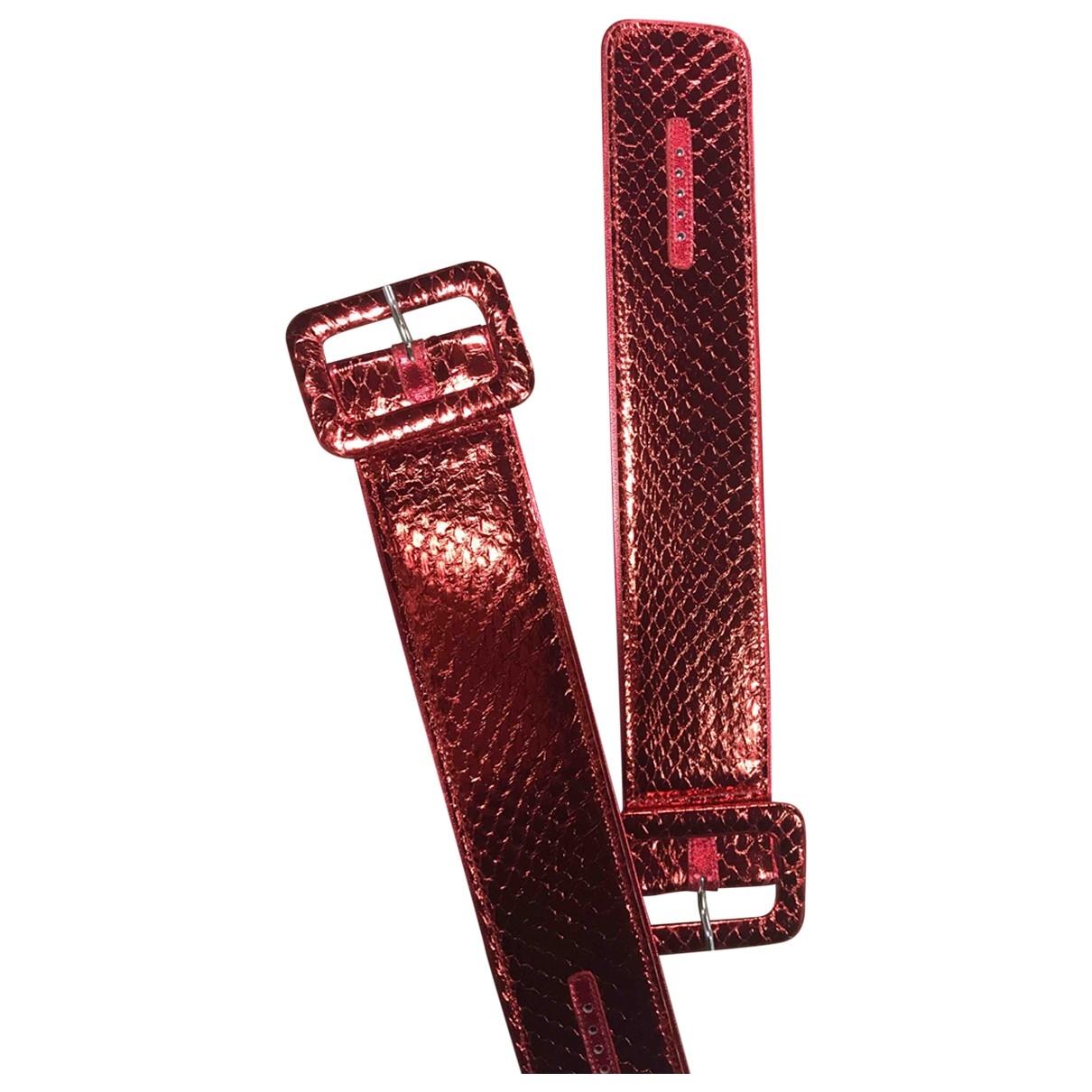 Attico - Bracelet   pour femme en cuir - rouge
