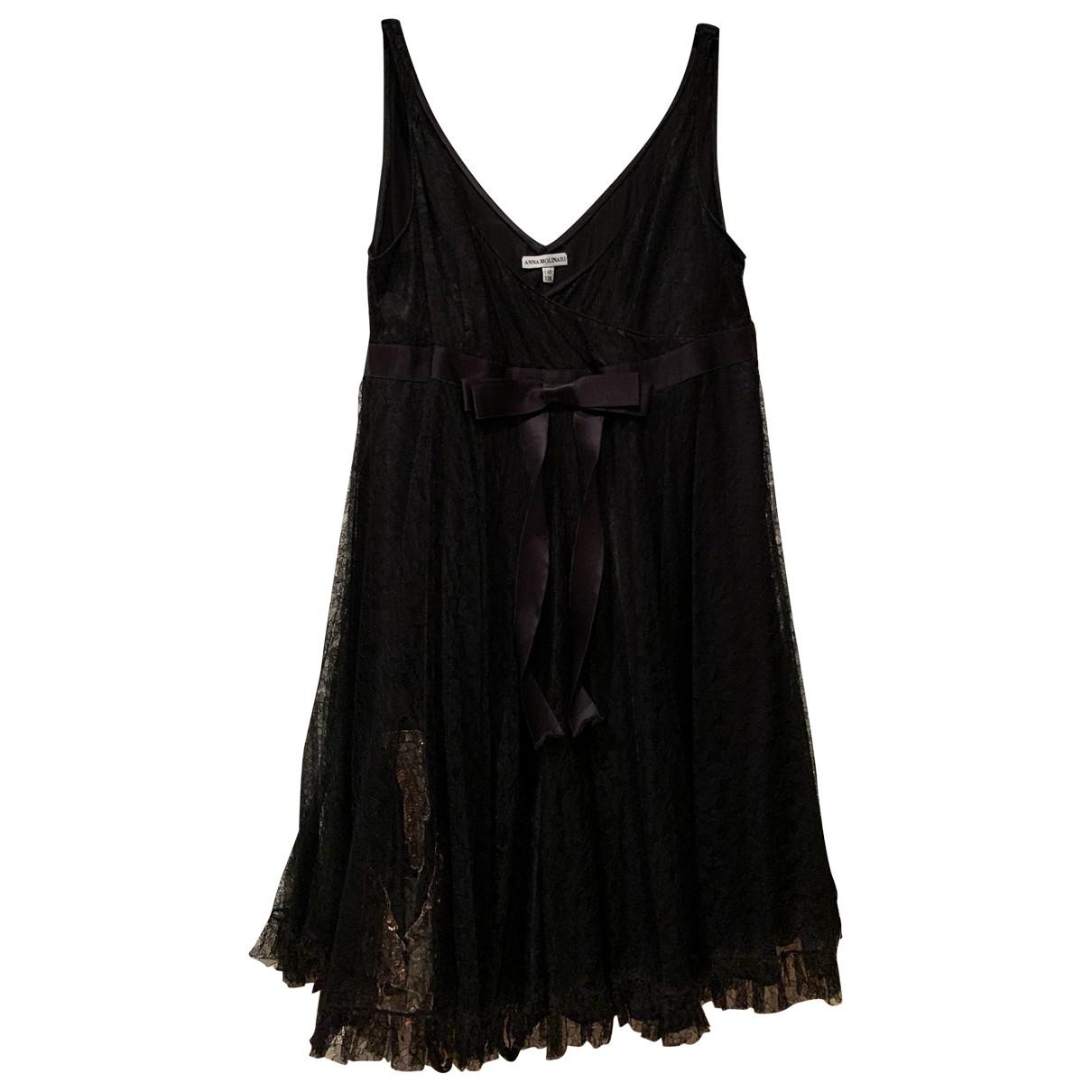 Anna Molinari \N Kleid in  Schwarz Seide