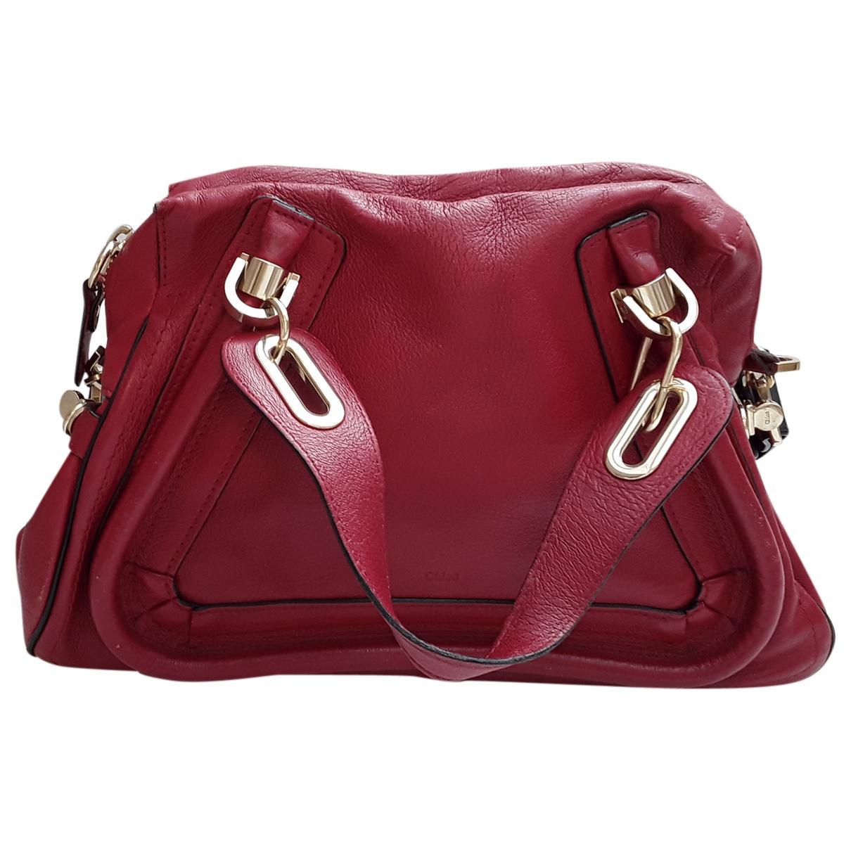 Chloe Paraty Handtasche in  Rot Leder