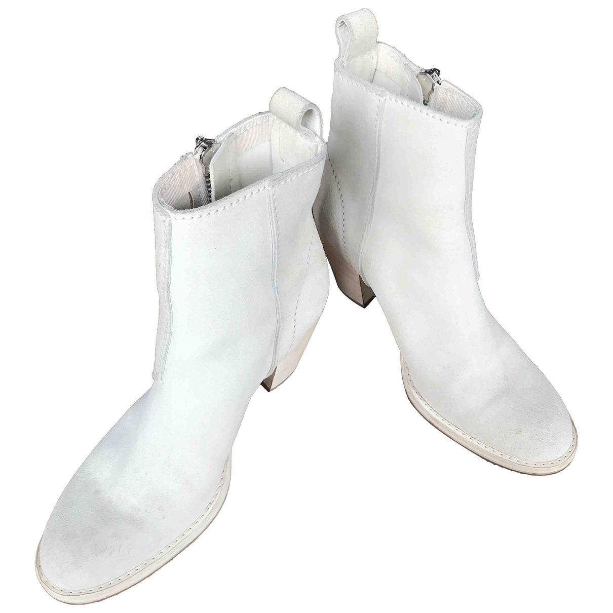 Acne Studios - Boots   pour femme en cuir - blanc