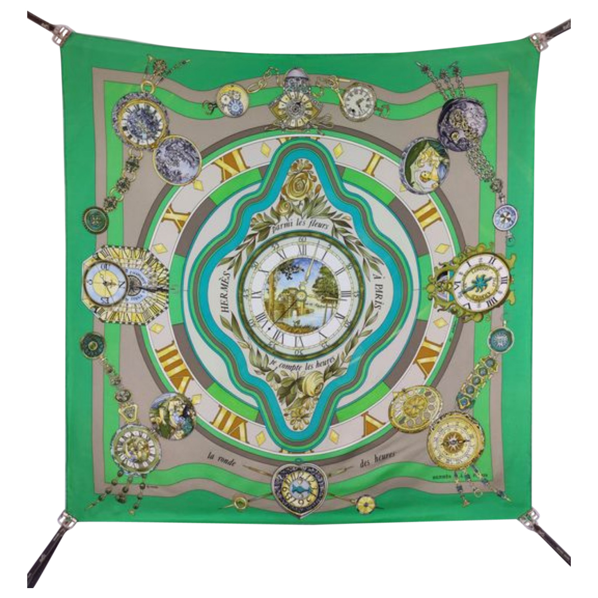 Hermès Carré Géant silk 140 Green Silk scarf for Women \N
