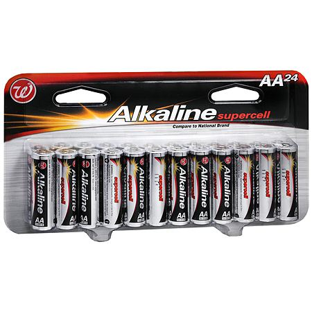 Walgreens Alkaline Supercell Batteries AA - 24.0 ea