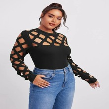 Plus Cut Out Solid Top