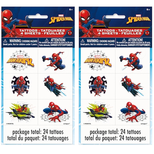 Spiderman Tattoos, 48Ct By Unique   Michaels®