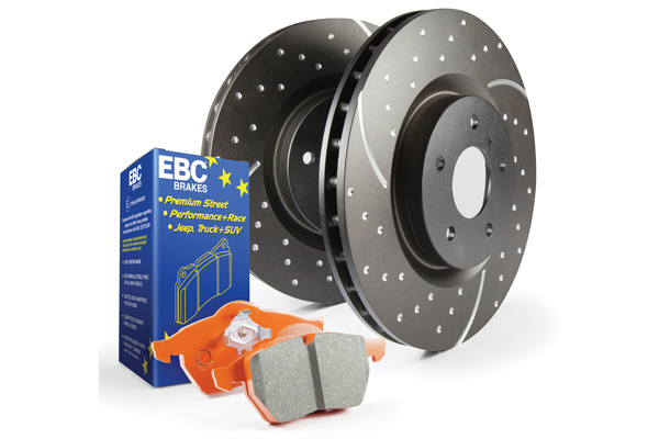 EBC Brakes S8KR1012 S8KR Kit Number REAR Disc Brake Pad and Rotor Kit ED91407+GD1576 Mitsubishi Outlander Rear 2007-2012 3.0L V6