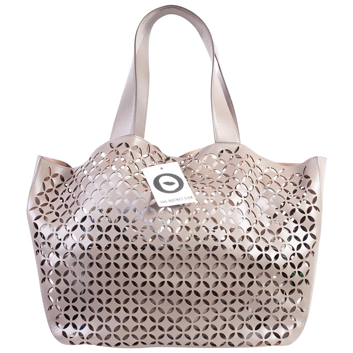 Alaia \N Handtasche in  Grau Leder