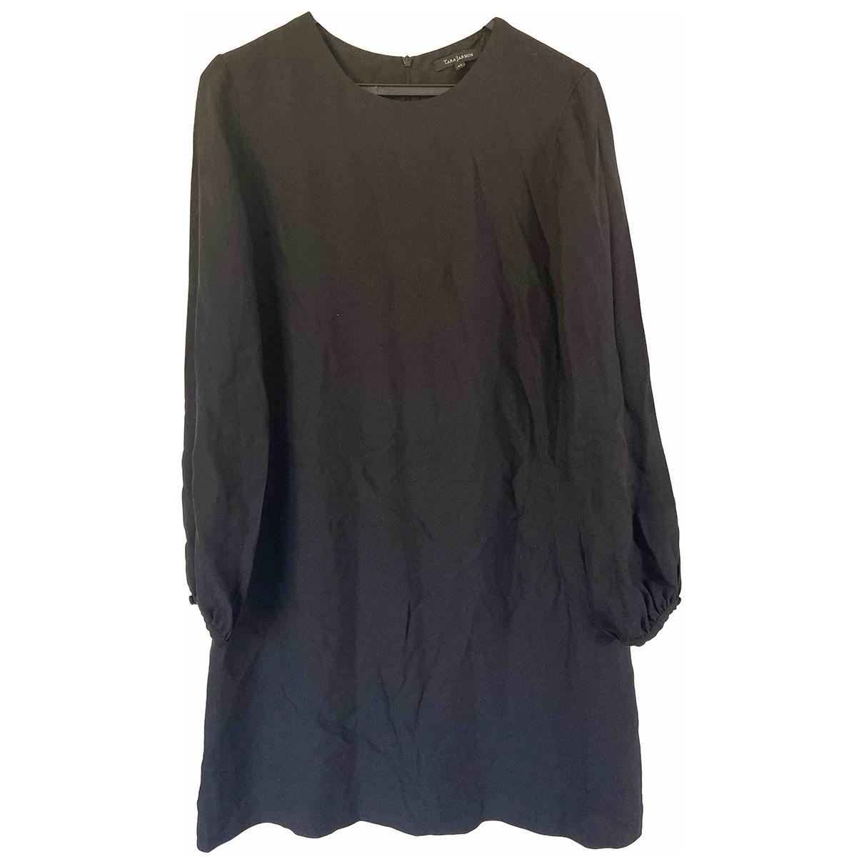 Tara Jarmon \N Black Cotton - elasthane dress for Women 42 FR
