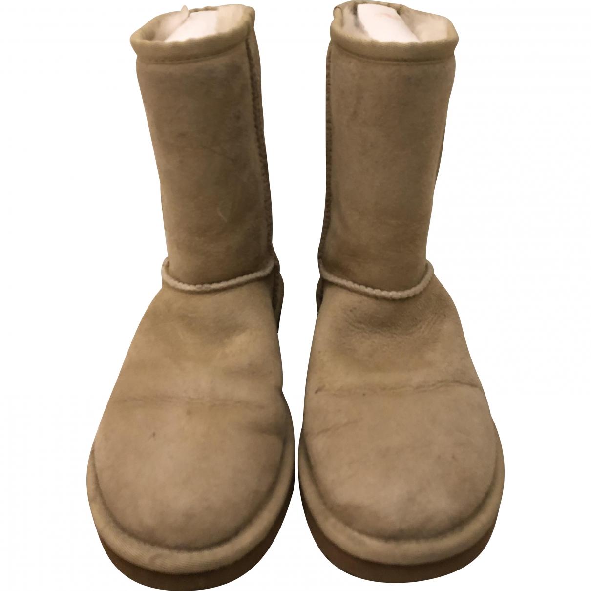 Ugg - Bottes   pour femme en suede - beige