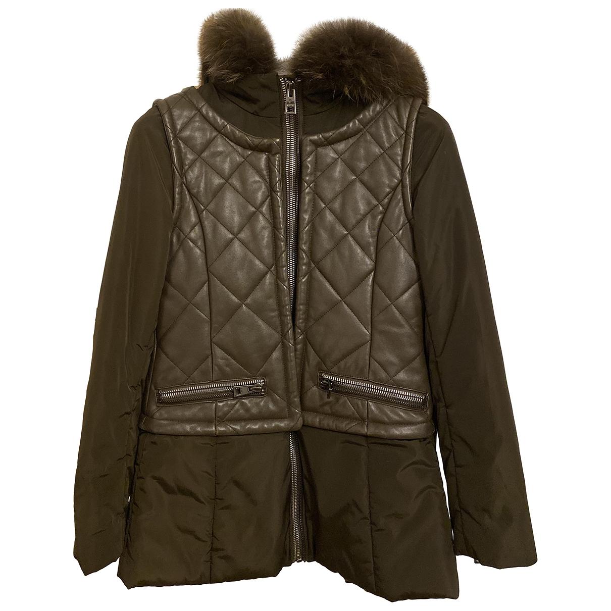Rizal - Manteau   pour femme en cuir - kaki