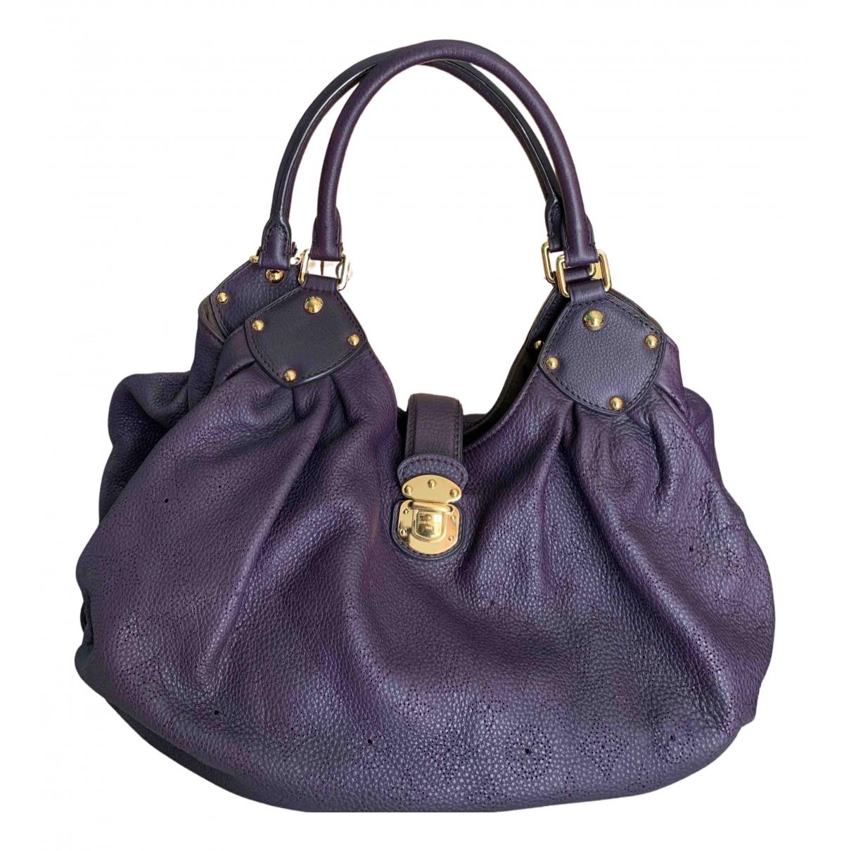 Louis Vuitton Mahina Handtasche in  Lila Leder