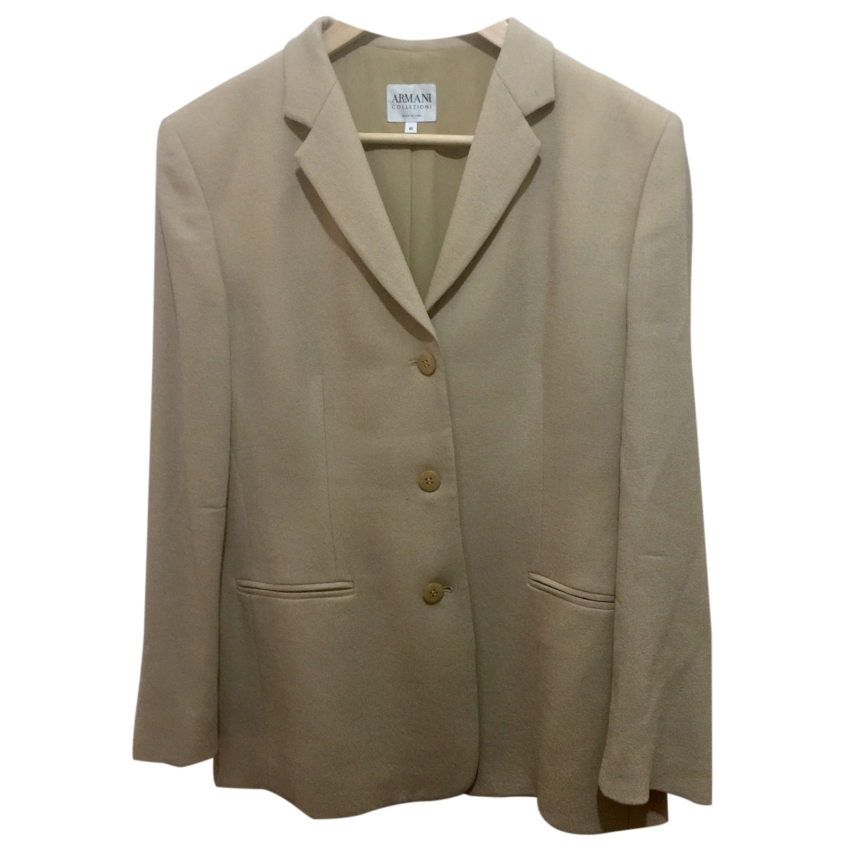 Armani Collezioni \N Beige Wool jacket for Women 46 IT