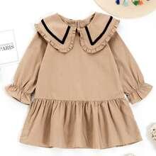 Vestidos para niña pequeña Volante fruncido Dulce
