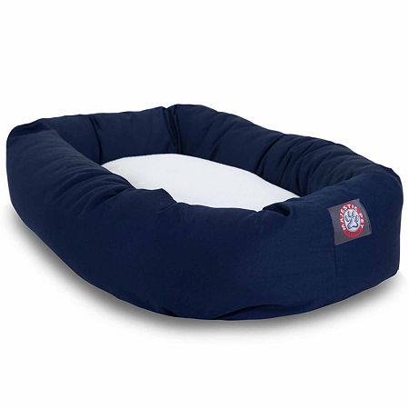 Majestic Pet Sherpa Bagel Pet Bed, One Size , Blue