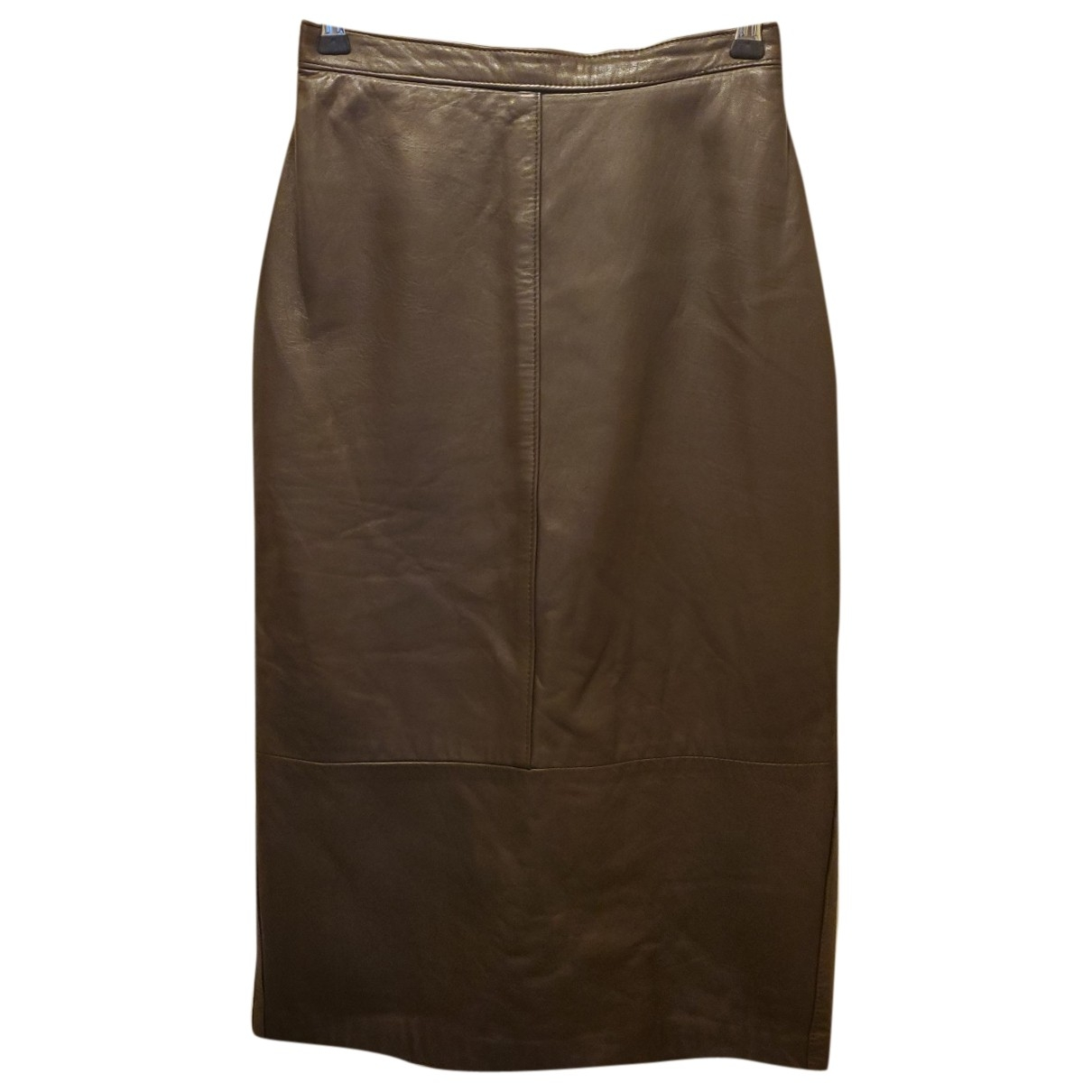 Non Signé / Unsigned \N Brown Leather skirt for Women 8 US