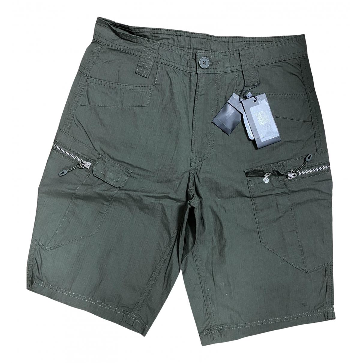 Emporio Armani N Khaki Cotton Shorts for Men 28 UK - US