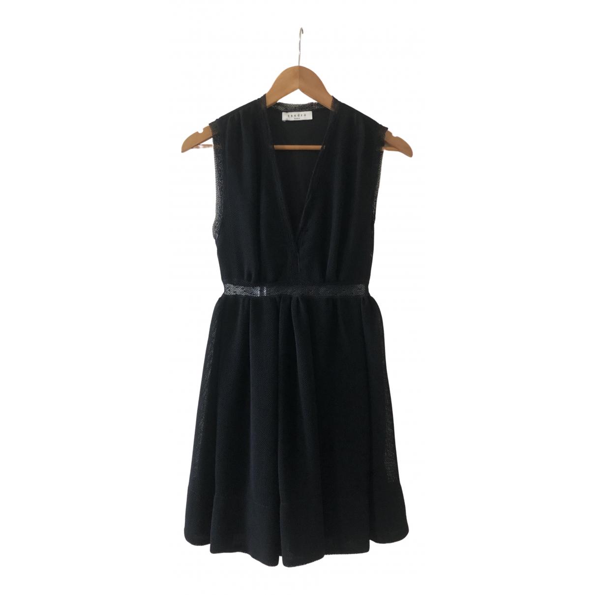 Sandro N Black Cotton dress for Women 1 0-5