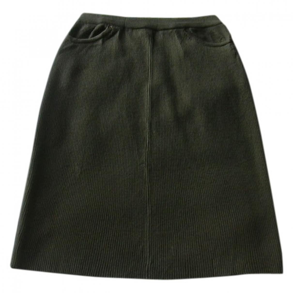 Non Signé / Unsigned \N Khaki Wool skirt for Women M International