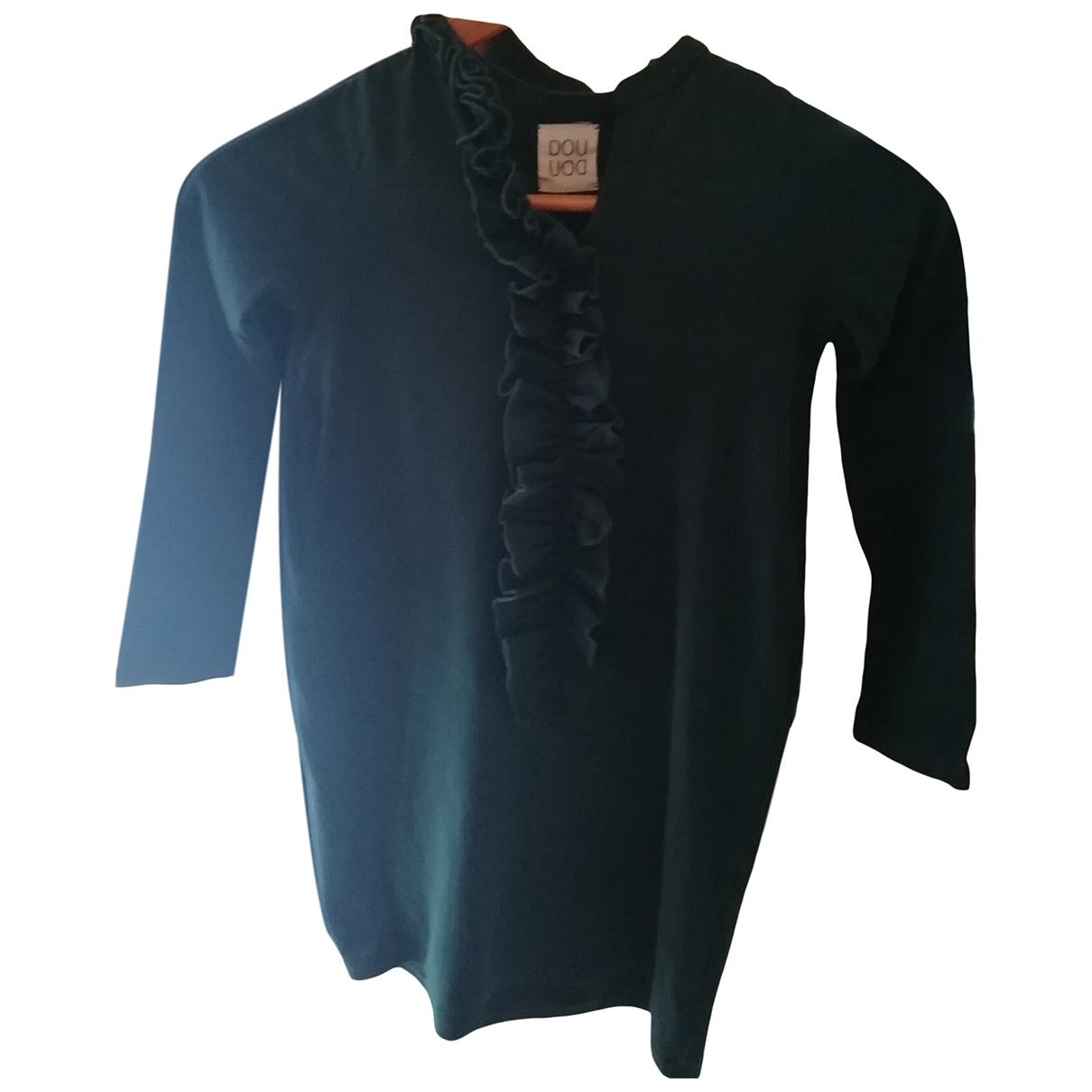 Douuod \N Kleid in  Gruen Baumwolle