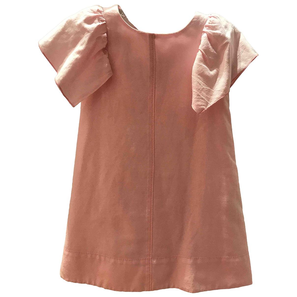 Zara - Robe    pour enfant en coton - rose