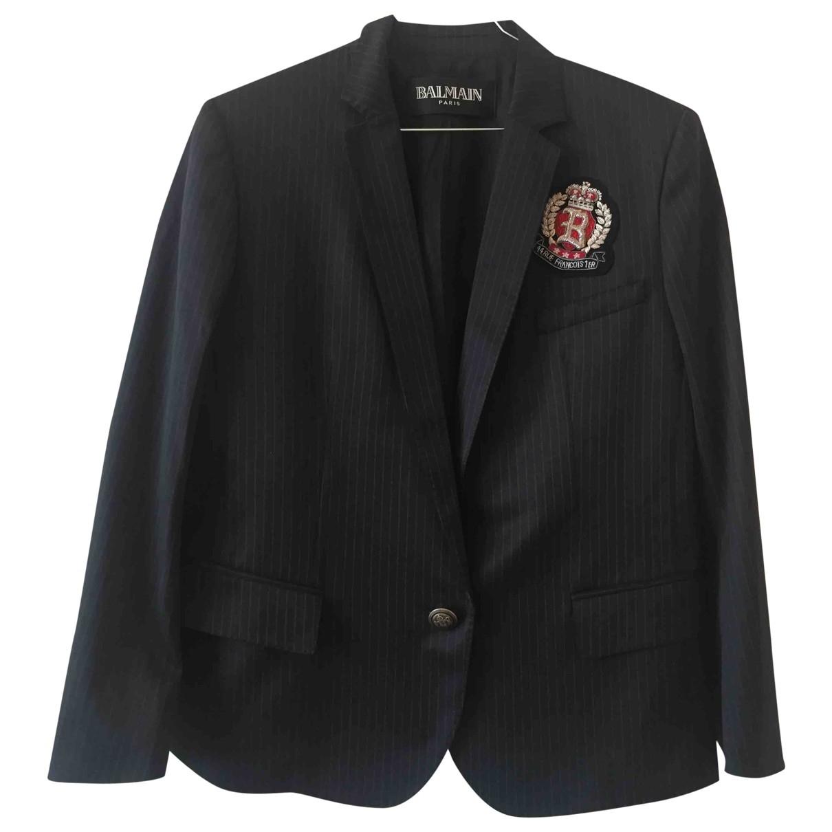 Balmain \N Black Wool jacket for Women 44 FR