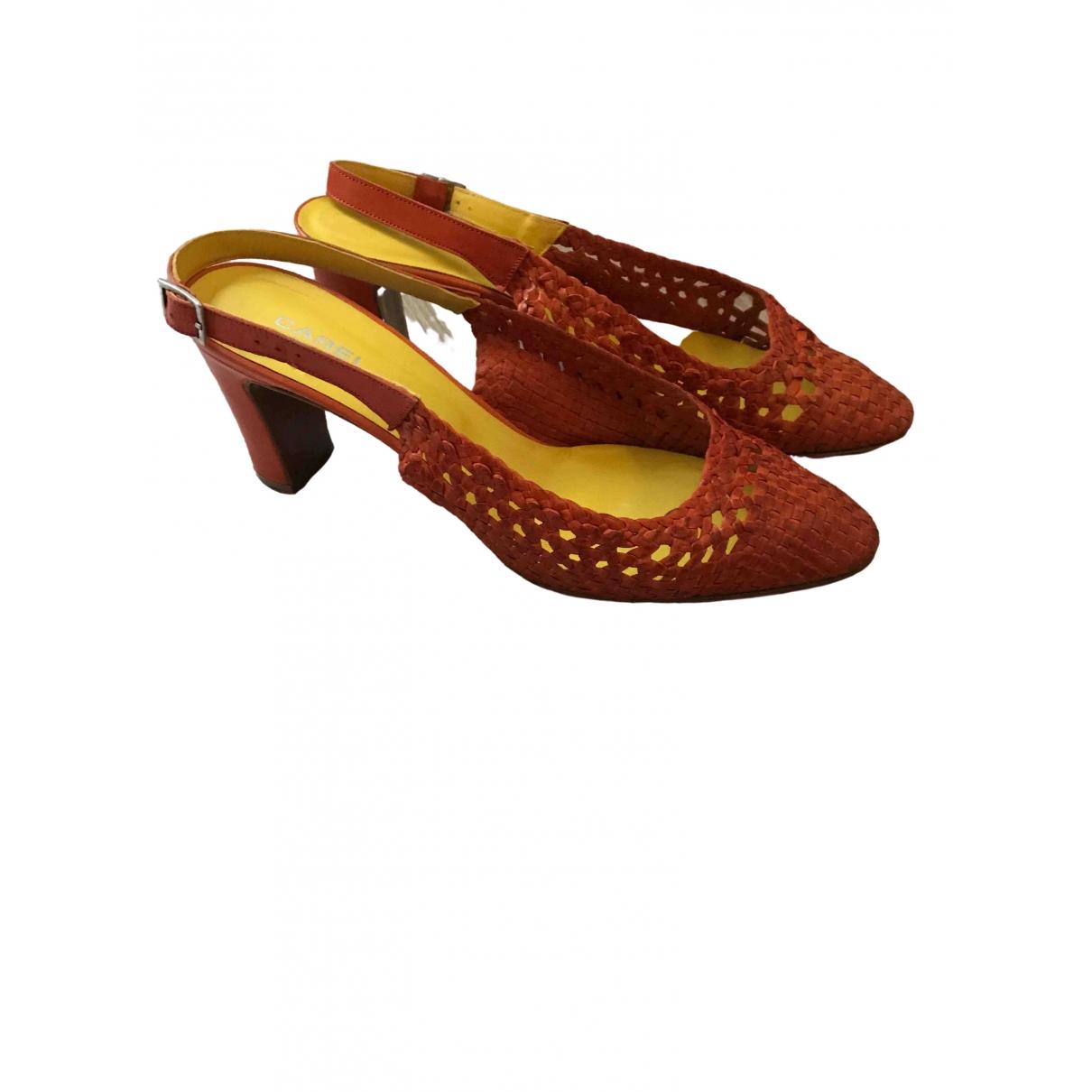 Carel \N Sandalen in  Orange Leder