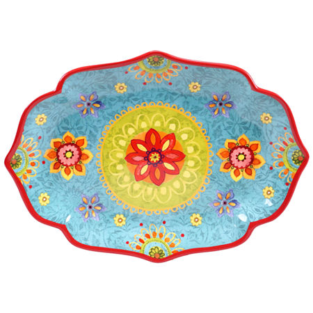 Certified International Tunisian Sunset Oval Platter, One Size , Multiple Colors