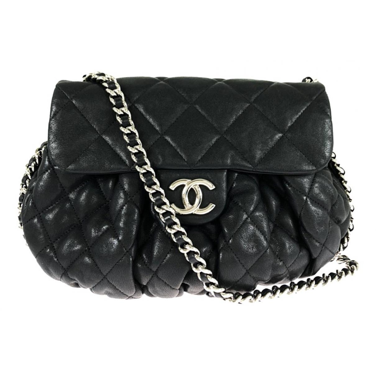Chanel Chain Around Handtasche in  Schwarz Leder
