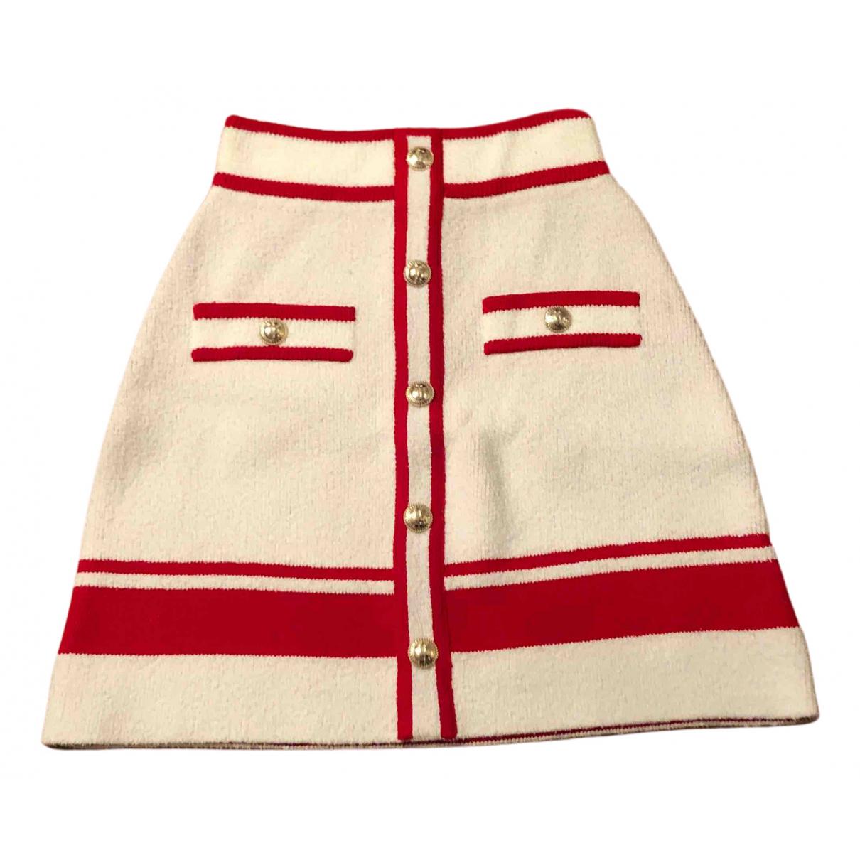 Maje \N Beige Tweed skirt for Women 36 FR