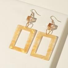 Acrylic Rectangle Drop Earrings
