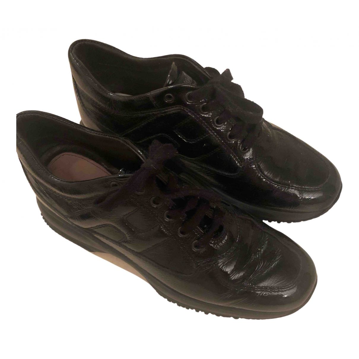 Hogan \N Sneakers in  Schwarz Lackleder