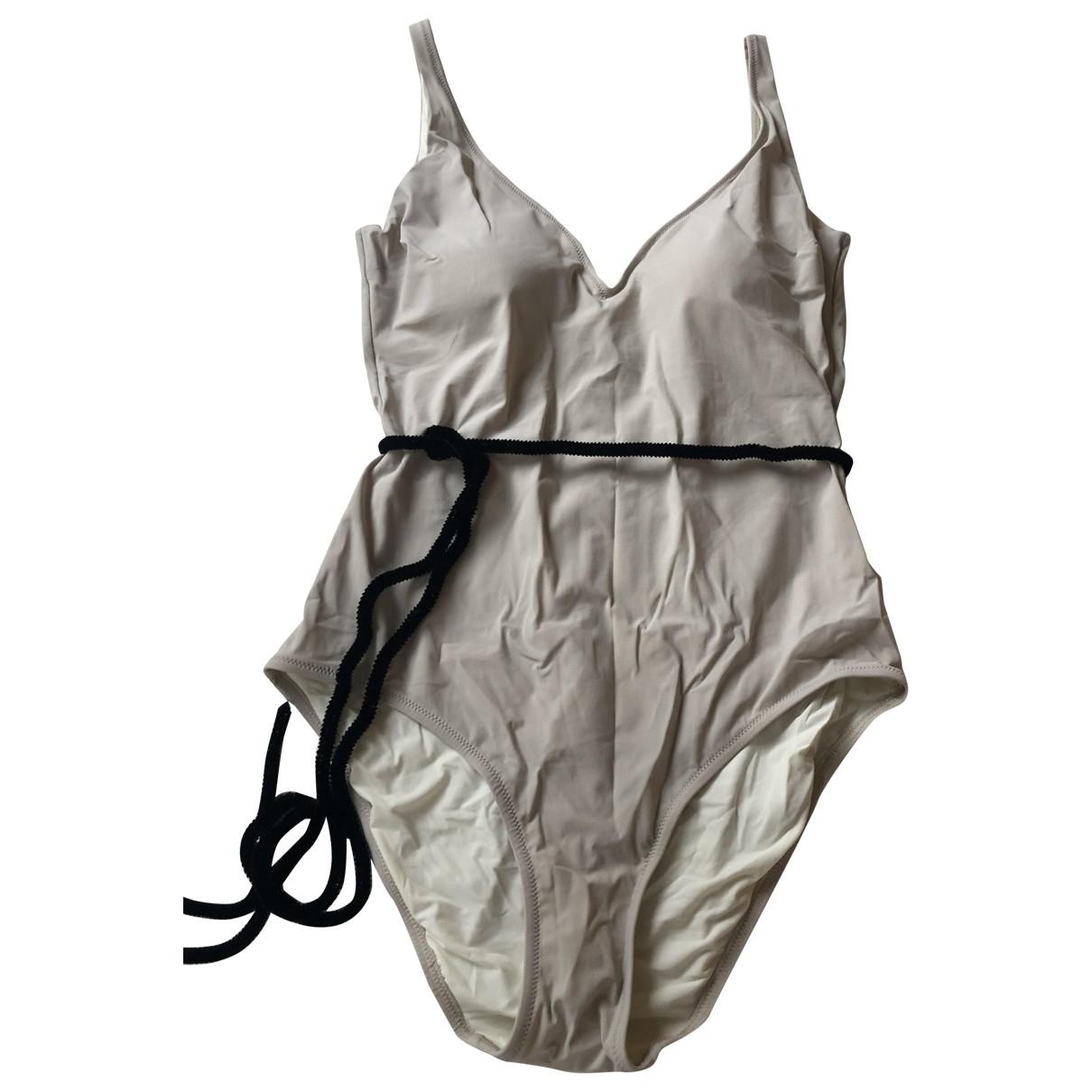 Siyu \N Badeanzug in  Beige Synthetik
