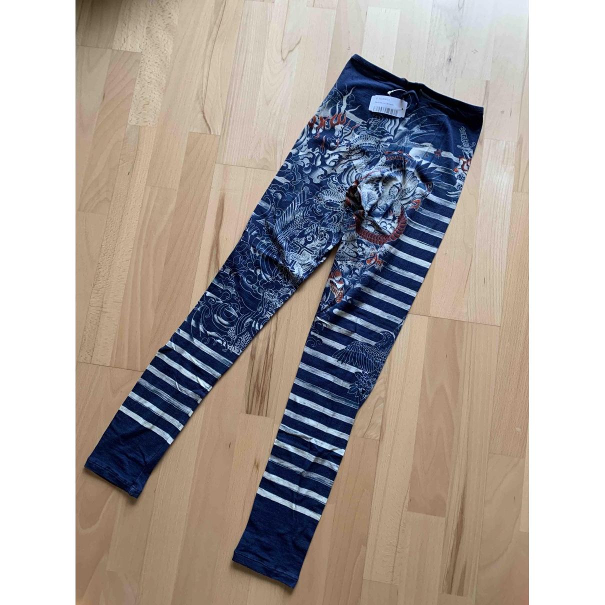 Jean Paul Gaultier \N Blue Cotton Trousers for Women S International