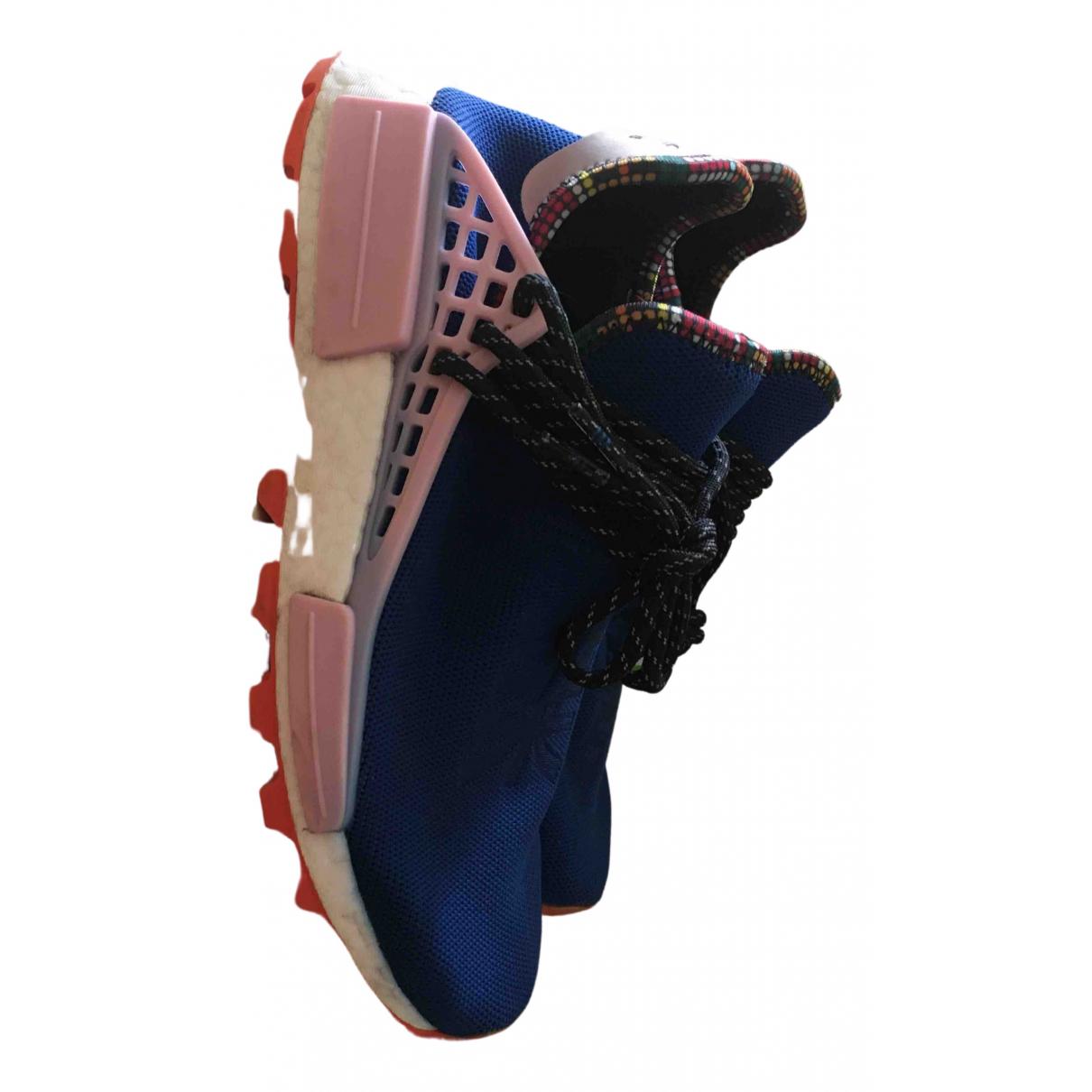 Adidas X Pharrell Williams - Baskets NMD Hu pour homme en toile - bleu