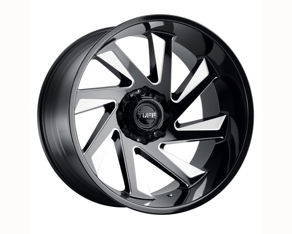 TUFF T1B Wheel 20x10 6x139.70 -12 Gloss Black w/ Milled Spoke