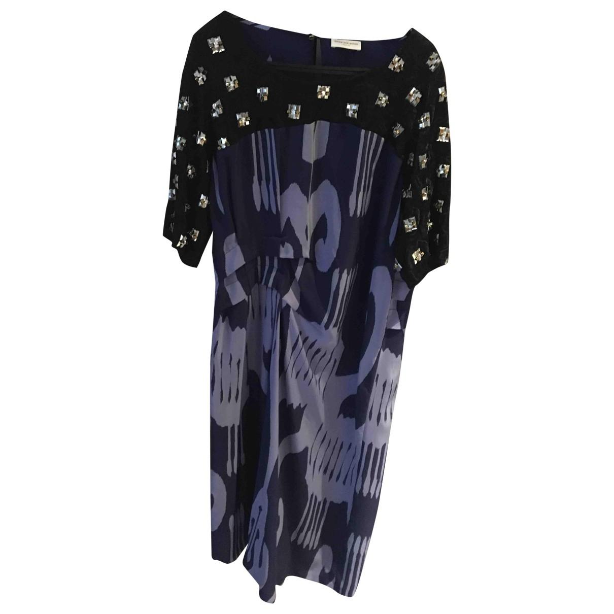 Dries Van Noten - Robe   pour femme en soie - bleu