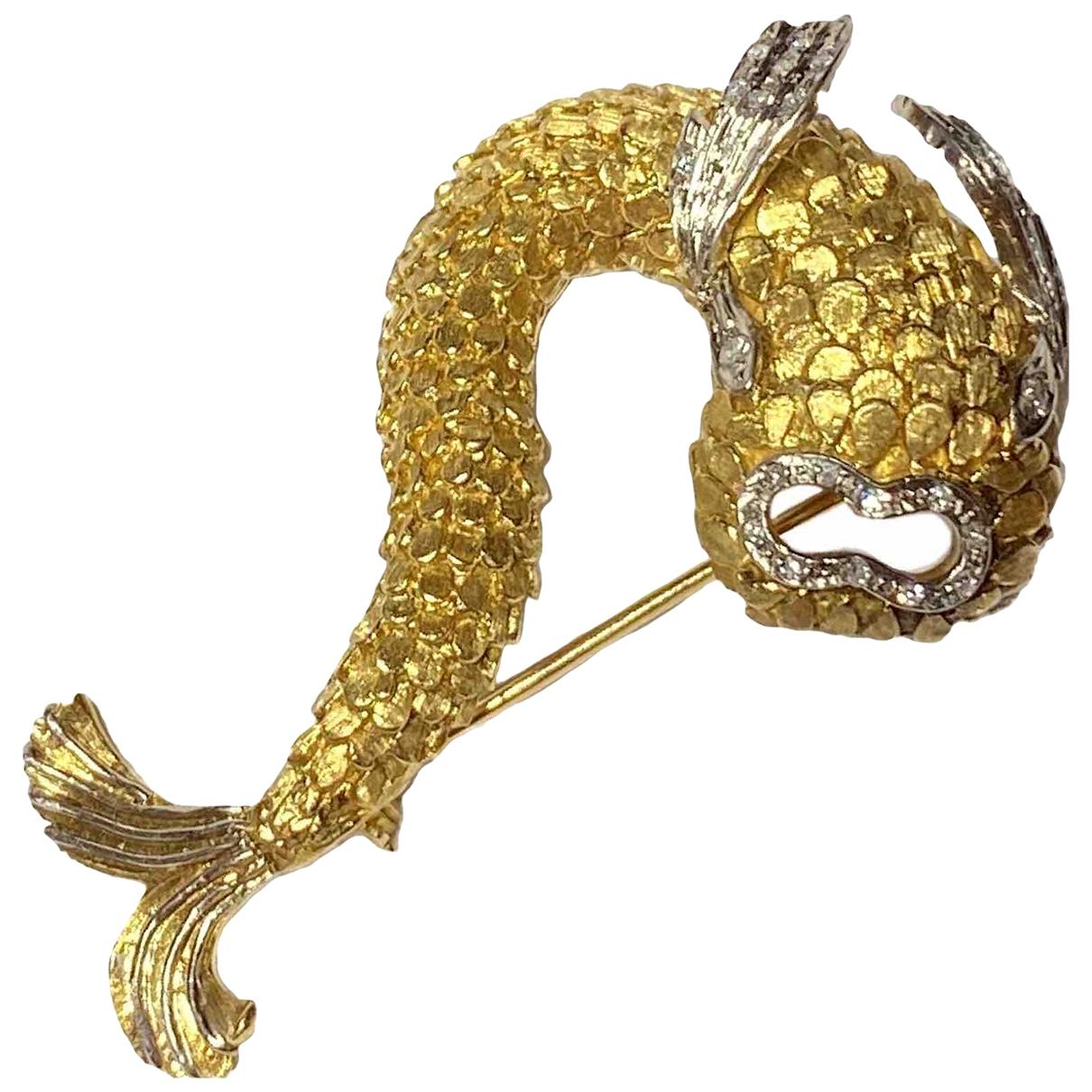Broche de Oro amarillo Ilias Lalaounis