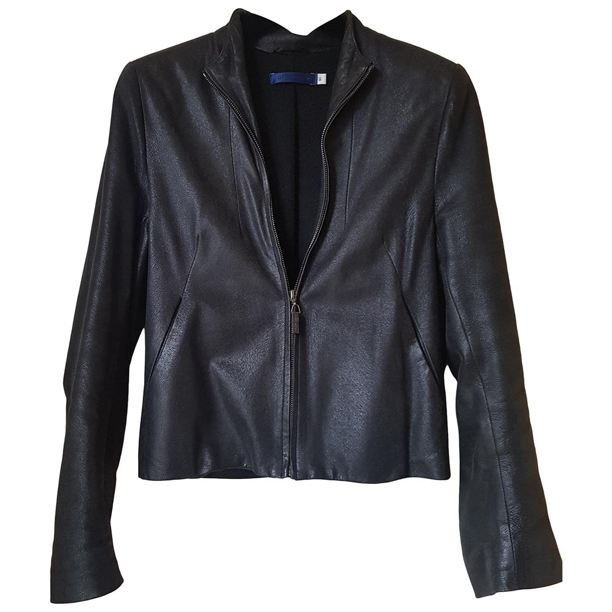 Givenchy - Blouson   pour femme en cuir - anthracite