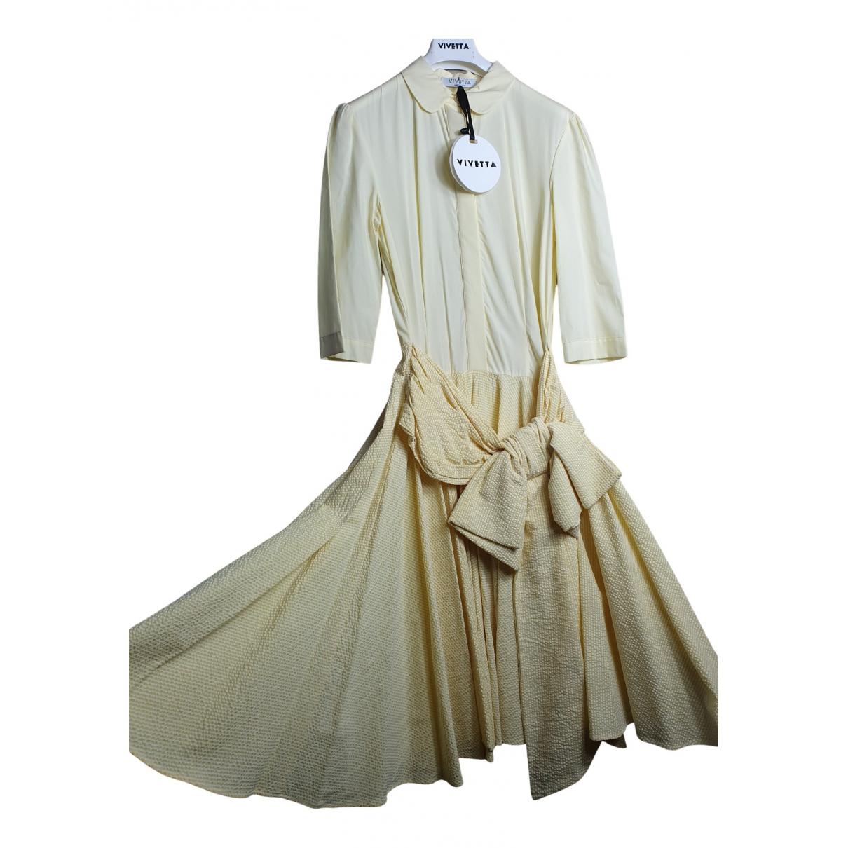 Vivetta \N Kleid in  Gelb Baumwolle