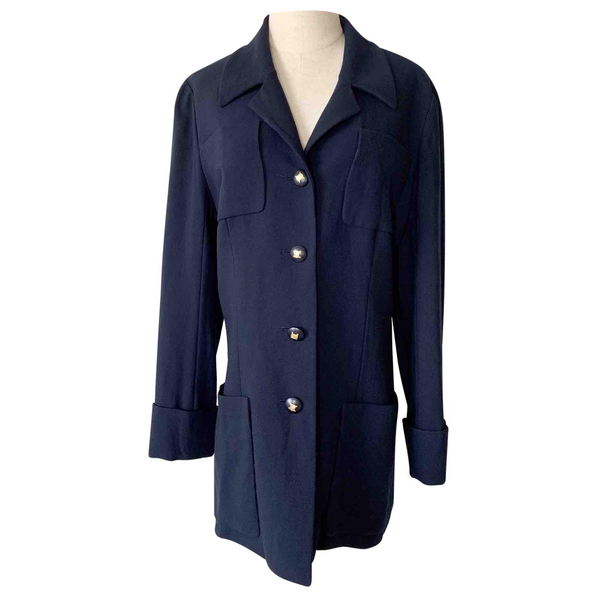 Celine N Navy Linen jacket for Women 40 FR