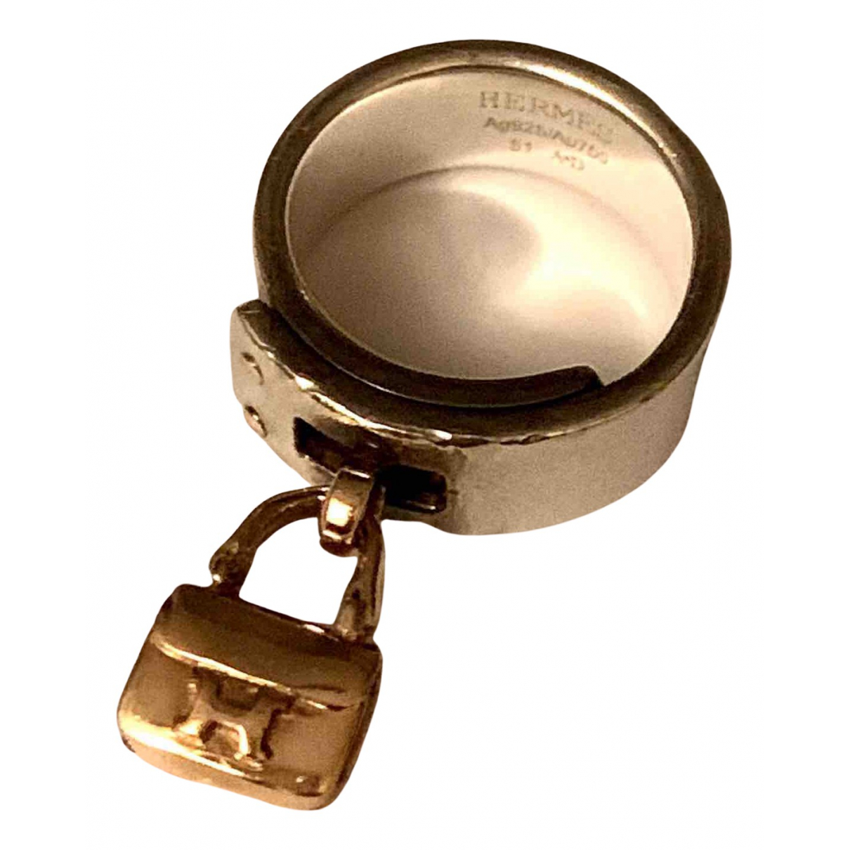 Hermès N Silver Silver ring for Women 51 EU